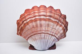 Mušle oranžová - 45 cm polštářek