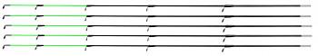 GLASSFIBER TIP ARMED 50 cm / 3.5 mm (MEDIUM - GREEN) - pcs.5