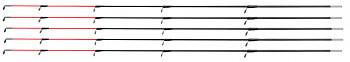 GLASSFIBER TIP ARMED 50 cm / 3.5 mm (HEAVY - RED) - pcs.5