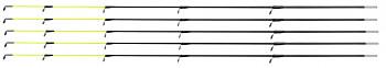 GLASSFIBER TIP ARMED 50 cm / 3.5 mm (LIGHT - FLUO) - pcs.5