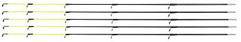 GLASSFIBER TIP ARMED 50 cm / 2.85 mm (LIGHT - FLUO) - pcs.5