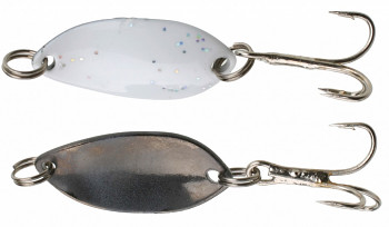 Třpytka - Mini 2.2 cm - 1.4 g bílá / černá 1 ks