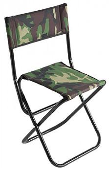Stolička s opěrkou zad 081 / CAMOUFLAGE Ø 19 mm (31 x 41 x 38/70 cm)