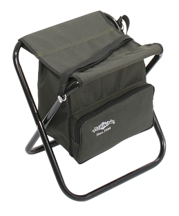 FOLDED STOOL WITH BAG (GREEN) (40 x 38 x 31 cm) max w. 100 kg