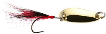 Třpytka - Mini - 2.4 cm - 1.5 g  / Zlatá  s chvostem 1 ks