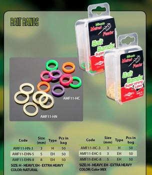 Gumky na pelety - COLOR MIX / 3mm (HEAVY) - 50 ks
