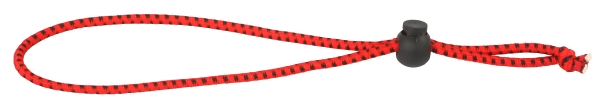 Gumka na  udici - ROD ELASTIC BAND 22cm / 3mm / RED-BLACK - 50 ks