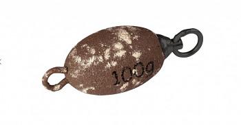 """Olověná zátěž -  """"CLONKER"""" (BROWN - hnědá) - 300 g - 1 ks"""
