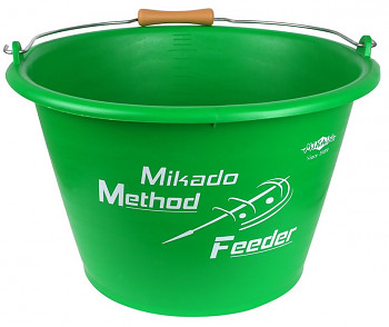 Vědro - MIKADO METHOD FEEDER 17L (GREEN)