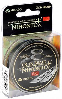 Pletená šňůra - NIHONTO OCTA BRAID Zelená 10M
