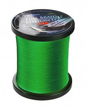 Pletená šňůra - NIHONTO FINE BRAID Zelená 3000M