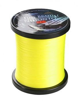 Pletená šňůra - NIHONTO FINE BRAID Žlutá 3000M