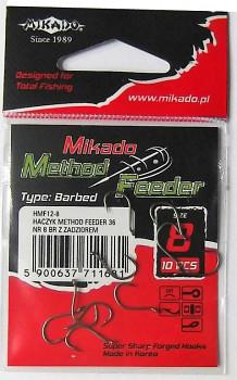 Háčky - METHOD FEEDER 702 (s protihrotem) BR (hnědý) - 10 ks