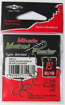 Háčky - METHOD FEEDER 36 (s protihrotem) vel. 6 BR (hnědý)  - 10 ks