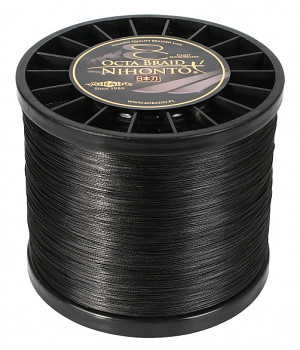 Pletená šňůra - NIHONTO OCTA BRAID  008 Černá 2100M Nosnost : 5.15 kg