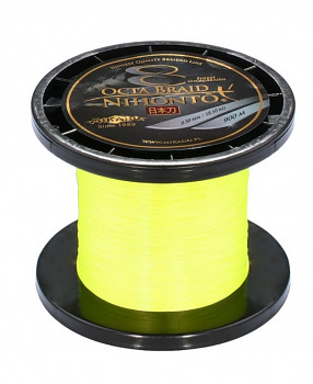 Pletená šňůra - NIHONTO OCTA BRAID Žlutá 900M