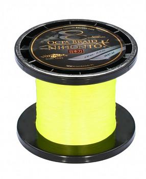 Pletená šňůra - NIHONTO OCTA BRAID 008 Žlutá 900M Nosnost : 5.15kg