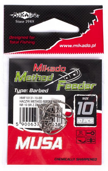 Háčky - METHOD FEEDER - MF MUSA BR (hnědý) - 10 ks
