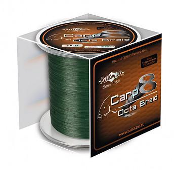 Pletená šňůra - CARP OCTA BRAID 016 Zelená 1200M  Nosnost: 12.90kg