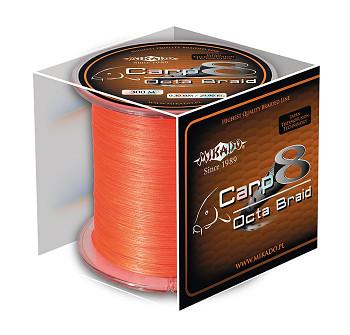 Pletená šňůra - CARP OCTA BRAID 016 Oranžová 1200M Nosnost: 12.90 kg