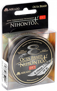 Pletená šňůra - NIHONTO OCTA BRAID  Černá 10M