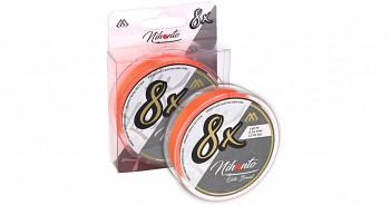 Pletená šňůra - NIHONTO OCTA BRAID  Oranžová 150M