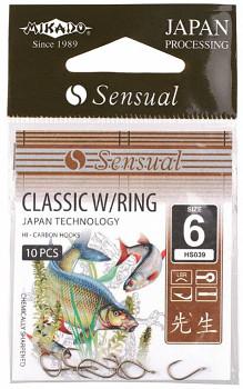 Háčky SENSUAL - CLASSIC vel. 4 LBR očko - 10 ks