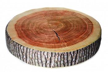 Dřevo kulaté - 40x15 cm polštářek