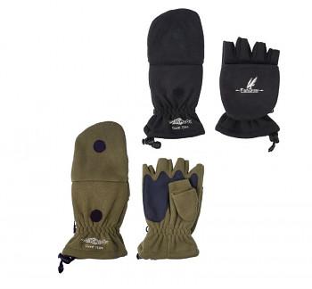 Rybářské rukavice fleecové POLAR černé/zelené
