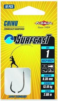 Navázané háčky SURFCAST - CHINU 200cm - 10ks