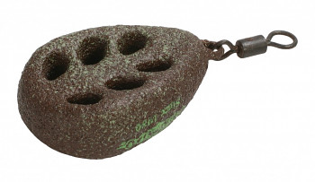 FLAT- Olověné krmítko krátké s obratlíkem (D.GREEN) /(40g-100g)- 10 ks OMK-33G