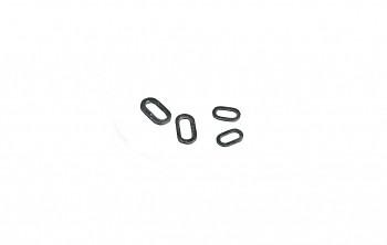 Kroužky - OVAL RIG RINGS  / BLACK MATTT (4.5mm 6.0mm ) - bal.25ks