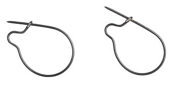 Spona na červy - BAIT SNAP  / (8 - 25 mm) 10 ks