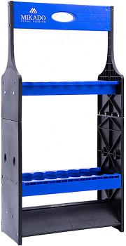 STOJAN na  pruty BLACK-BLUE oboustranný 18 prutů