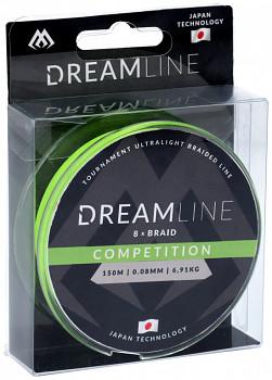 Pletená šňůra -  DREAMLINE FLUO GREEN 0.08mm\6.91kg\150m - 1 cívka