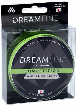 Pletená šňůra -  DREAMLINE FLUO GREEN 0.14mm\12.98kg\300m - 1 cívka