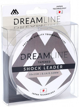 Šokový vlasec -TAPERED SHOCK LEADER DREAMLINE /10x15m - 1 cívka