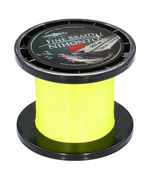 Pletená šňůra - NIHONTO FINE BRAID Žlutá 900M