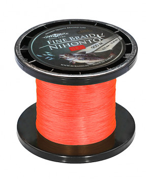 Pletená šňůra - NIHONTO FINE BRAID Oranžová 900M
