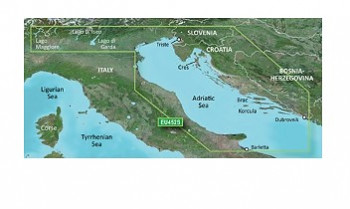 GARMIN SEA MAP GARMIN BLUECHART G3 VISION ADRIATIC SEA, NORTH COAST