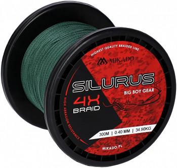 Pletená šňůra - SILURUS 4 X BRAID Zelená 300M 0.35mm / 33.40kg