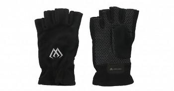 Rybářské rukavice fleecové půlprsty černo/šedé - 1pár