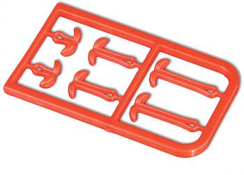 Barevný prodlužovač vlasce S/M/L – červený – 2 ks