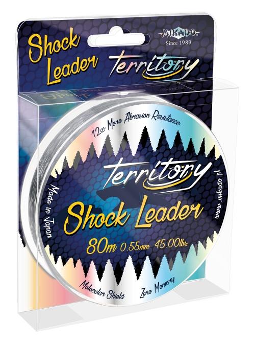 Šokový vlasec - TERRITORY SHOCK LEADER 0.55MM/45LBS 80M / CLEAR (bílý)