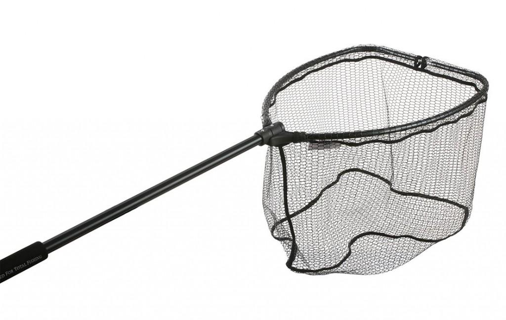 Podběrák - zasouvaná rukojeť + skládací hlava (60 x 50cm) pogumovaná síť - délka 140 cm