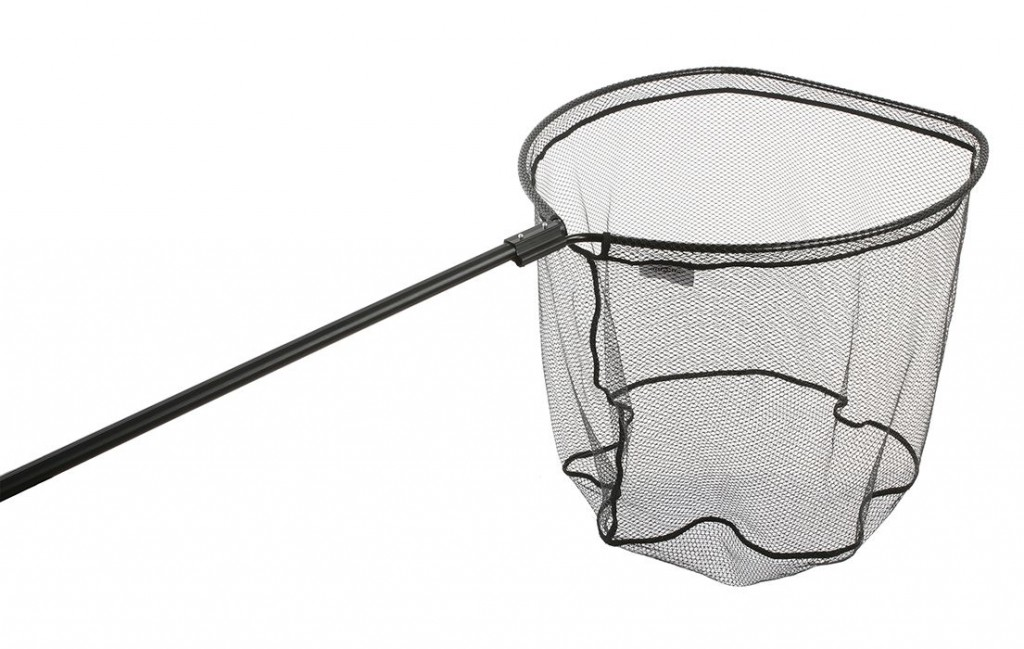 Podběrák - zasouvaná rukojeť + pevná hlava (80 x70 cm) pogumovaná síť - délka 220 cm