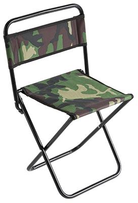 Stolička s opěrkou zad 004 (malá) / CAMOUFLAGE ? 16 mm (30 x 38 x 59 cm)