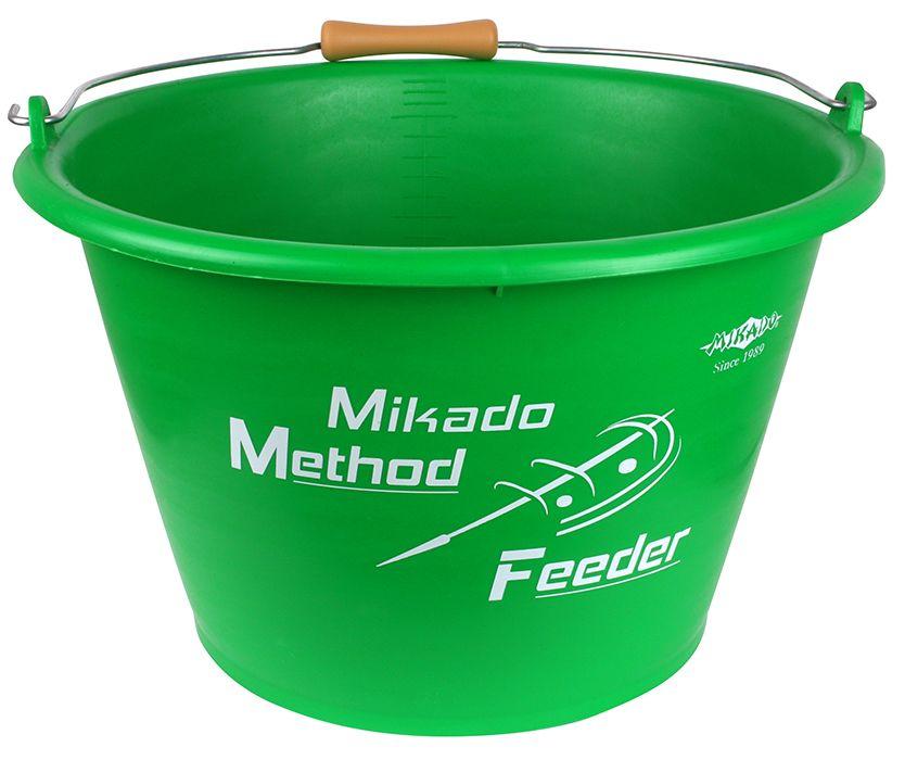 Vědro - MIKADO METHOD FEEDER 17L (GREEN)