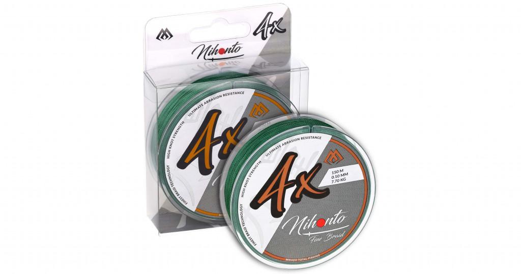 Pletená šňůra - NIHONTO FINE BRAID  006 150M Zelená Nosnost : 3.25kg