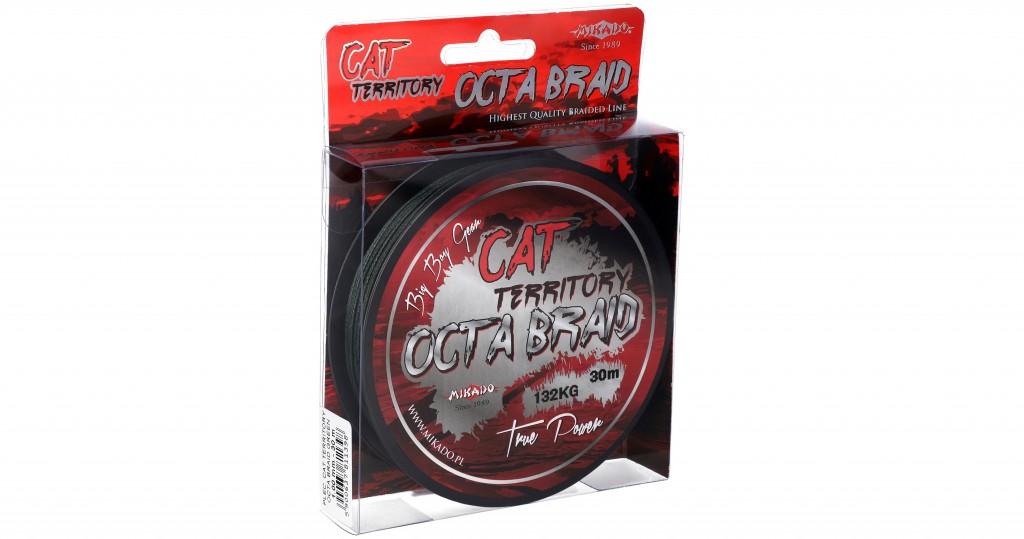 Pletená šňůra - CAT TERRITORY OCTA BRAID 1.2 Zelená 30M Nosnost: 153.00kg